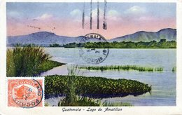 GUATEMALA LAGO DE AMATILLAN  POSTED IN 1926 STAMP (11) - Guatemala