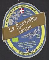Etiquette De Bière  -  La Rochoise Brune  -  Brasserie La Rochoise  à  La Roche Sur Foron  (74) - Bière