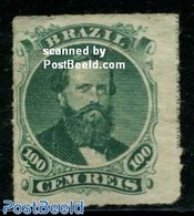Brasil 1876 100R, Stamp Out Of Set, Without Gum, (Unused (hinged)), Stamps - Ongebruikt