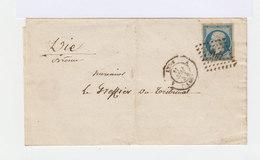 Type Louis Napoléon Bonaparte 25c. Bleu Type I. Oblitéré Sur Enveloppe. Date Cachet: 1854. (534) - Marcophilie (Lettres)