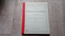 Cours De Géographie Cours Supérieur Lémonnier Schrader  Notions Générales 5 Parties Du Monde France 1921 - Books, Magazines, Comics