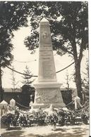 TOUILLON. CARTE PHOTO INAUGURATION DU MONUMENT AUX MORTS - Other Municipalities