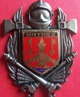 INSIGNE POMPIERS ORTHEZ (ecu Email) - Firemen