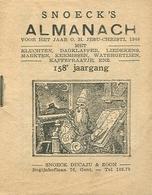 Snoeck's Almanach 1940 (9x11cm) 158e Jaargang (Gent Snoeck Ducaju En Zoon Begijnhoflaan) - Antique