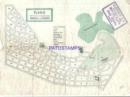 94881 ARGENTINA MAR DEL PLATA PLANO DE FRACCIONAMIENTO SIERRA DE LOS PADRES 25 X 18 CM NO POSTAL POSTCARD - Maps