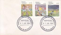 FDC. 1994. XV CAMPEONATO MUNDIALL DE FUTBOL EN EEUU, STAMPS. PARAGUAY.-BLEUP - Paraguay