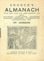 Snoeck's Almanach 1941 (9x11cm) 159e Jaargang (Gent Snoeck Ducaju En Zoon Begijnhoflaan) - Antique
