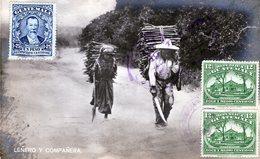 GUATEMALA LENERO Y COMPANERA  POSTED 1925 RARE STAMPS (14) - Guatemala