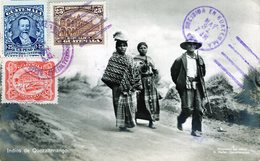 GUATEMALA INDIOS DE QUEZALTENANGO  POSTED 1925 RARE STAMPS (15) - Guatemala