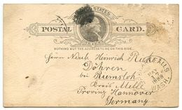 United States 1888 UX9 Postal Card Spokane Falls, Washington To Döhren Bei Riemsloh, Germany - ...-1900