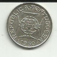2.5 Escudos 1950 Moçambique Silver - Mozambique
