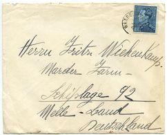 Belgium 1930's Cover Waereghem To Melle Germany, Scott 295 King Leopold III - Covers & Documents
