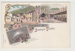 Souvenir De Simplon-Tunnel - Schichtwechsel Beim Simplon-Tunnelbau - Litho - Nicht Häufig         (P-143-61121) - Chemins De Fer