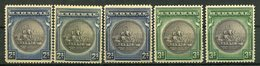 1931 - BAHAMAS - GREAT SEAL -CPL.SET WITH VARIETY -  5  VAL.- M.N.H./M.L.H. - LUXE !! - 1859-1963 Crown Colony
