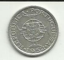 10 Escudos 1952 Moçambique Silver - Mozambique