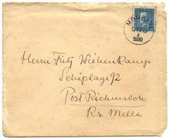 Sweden 1930 Cover Moholm To Riemsloh, Kr. Melle, Germany, Scott 175 - Suède