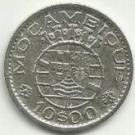10 Escudos 1954 Moçambique Silver - Mozambique