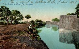 S BASTION & MOAT, FORT, BELGAUM INDIA - India