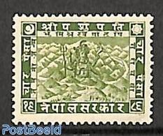 Nepal 1930 4p, Stamp Out Of Set, (Unused (hinged)) - Nepal