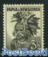 Papua New Guinea 1958 3.5p Black, Stamp Out Of Set, (Mint NH), History - Original Inhabitants - Papua Nuova Guinea