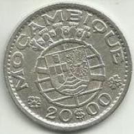 20 Escudos 1952 Moçambique Silver - Mozambique