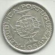 20 Escudos 1955 Moçambique Silver - Mozambique