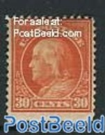 United States Of America 1912 30c, Perf. 12, Stamp Out Of Set, (Unused (hinged)), Stamps - Unused Stamps
