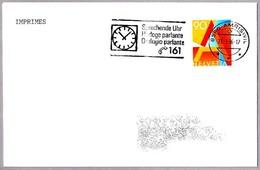 SPEAKING CLOCK - HORLOGE PARLANTE - Telefono 161. Amriswil 1996 - Relojería