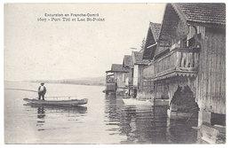 Cpa Port Titi Et Lac St-Point  ( Pêcheur ) - France