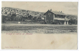CPA Turquie Grèce Rare Village Et Station De Malaka Gare Train Grèce Liban Ou Turquie ? Beyrouth Beirut - Türkei