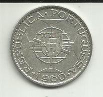 20 Escudos 1960 Moçambique Silver - Mozambique