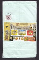 India: Cover To Netherlands, 2018, 4 Stamps, Souvenir Sheet, Indian Museum, Heritage, Art, Mask, Buddha (minor Damage) - India