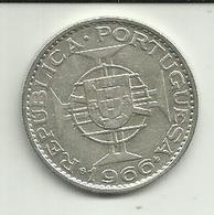 20 Escudos 1966 Moçambique Silver - Mozambique