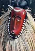 Afrique-(Côte D'Ivoire) Masque Africain African Mask Baoulé (B) (ethnie Ethnique - Editions : Hoa Qui 3719) *PRIX FIXE - Côte-d'Ivoire