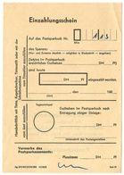 Germany C.1960's Einzahlungsschein / Paying-in Slip - [7] République Fédérale