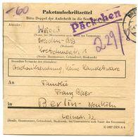Germany C.1930's-40's Dresden To Berlin, Paketaufschriftzettel / Package Label - Deutschland
