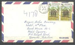USED AIR AIRMIL COVER JAMAICA TO PAKISTAN SCOUT - Jamaica (1962-...)
