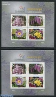 Bangladesh 2014 Flowers 2 S/s (perforated & Imperforated), (Mint NH), Nature - Flowers & Plants - Bangladesh