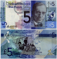 SCOTLAND - CB       5 Pounds       P-229I       6.8.2009       UNC - Scozia