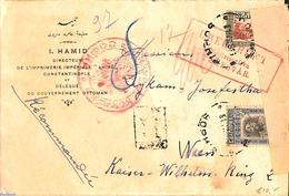 Bulgaria 1917 Censored Letter To Vienna, (Postal History), Censored Mail - Cartas
