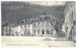 Cpa Saint Hippolyte - Place De L'Hôtel De Ville - Saint Hippolyte