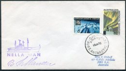 1972 AAT Davis Base Antarctica Polar Ship NELLA DAN Cover - Australian Antarctic Territory (AAT)