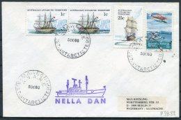 1980 AAT Mawson Antarctica Polar Ship NELLA DAN Cover - Australian Antarctic Territory (AAT)