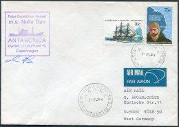 1984 AAT Mawson Antarctica Polar Ship NELLA DAN Cover. Expedition - Australian Antarctic Territory (AAT)