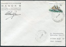 1984 AAT Casey Antarctica Polar Cover. Expedition Dansk Polarskib, Denmark Danish Ship NANOK S - Australian Antarctic Territory (AAT)