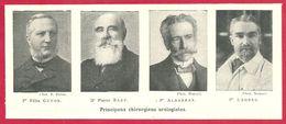 Principaux Chirurgiens Urologistes, Pr F Guyon, Dr P Bazy, Pr Albarran Et Pr Legueu, Larousse Médical 1929 - Other