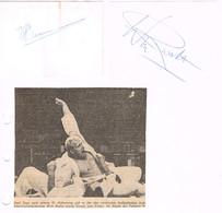 AUTOGRAPHES - JEUX OLYMPIQUES - PAYS BAS - RUSKA - JUDO - SUSELBEEK - AVIRON - - Autographs