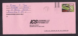 Jamaica: Cover To USA, 1 Stamp, Orchid Flower, Rare Real Use (traces Of Use) - Jamaica (1962-...)