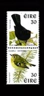 IRELAND/EIRE - 1998 BLACKBIRD-GOLDCREST PAIR PERF.14x15 NO PH.FRAME  MINT NH - 1949-... Repubblica D'Irlanda