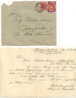 Germany 1920 Cover & Letter Sterkrade To Ostenfelde, Scott 108 National Assembly - Germany